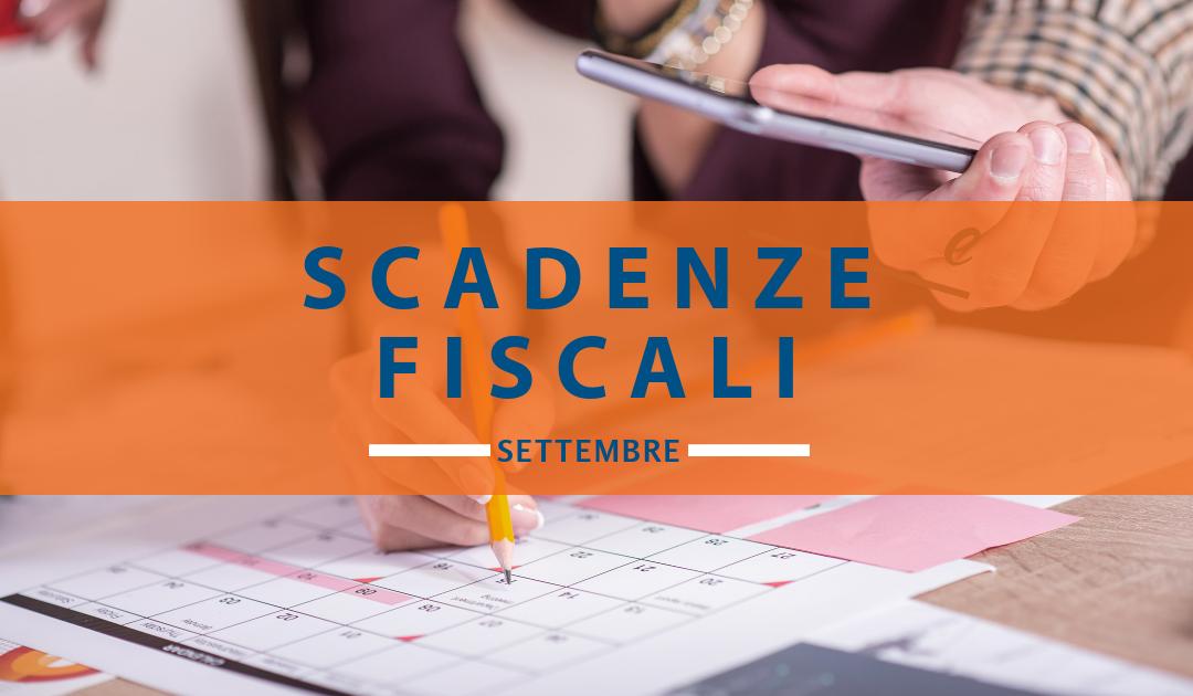 Le scadenze fiscali settembre
